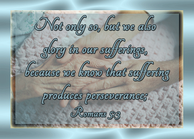 Romans 5:3 scripture graphic
