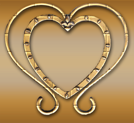 Free Graphic Brass Heart