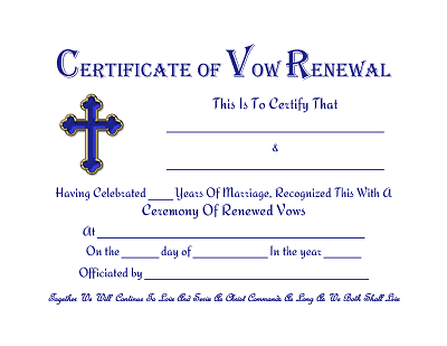 Christian Cross Vow Renewal